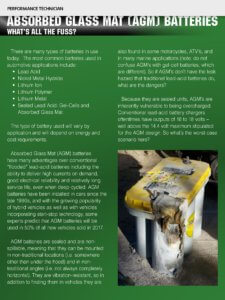 AGM batteries article