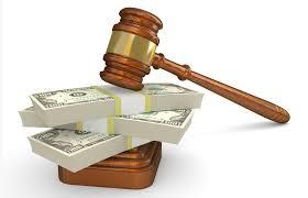 gavel and cash